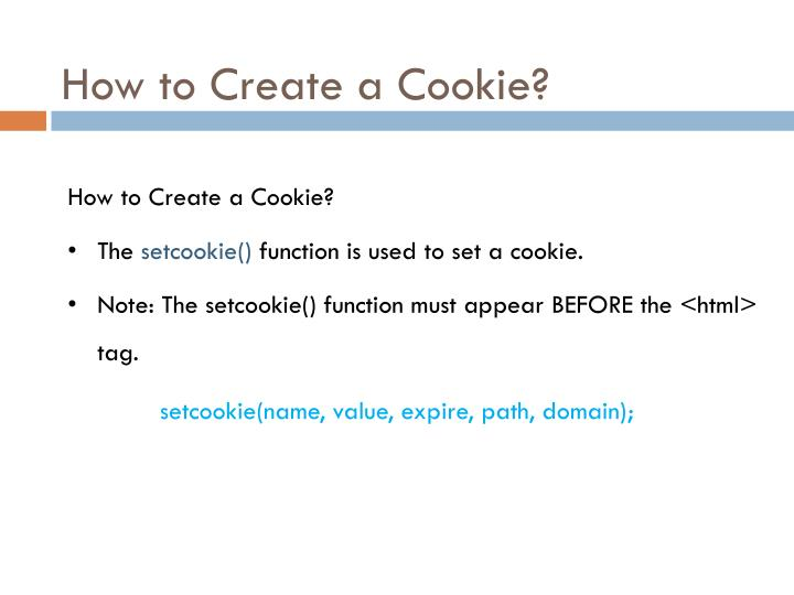 How to Create a Cookie
