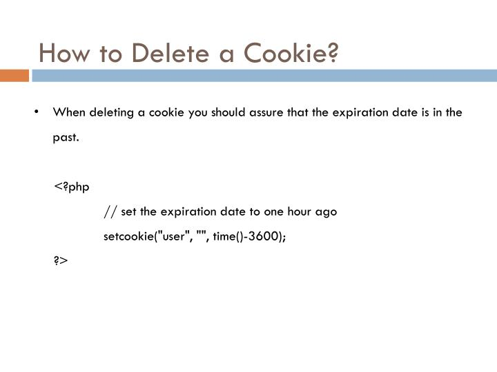 How to Delete a Cookie