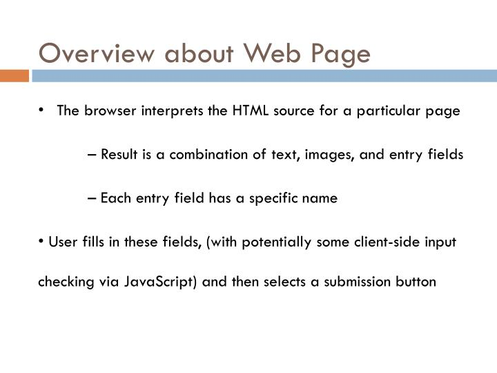 Overview about Web