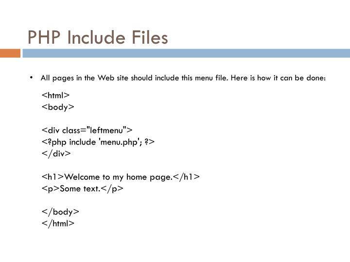 PHP Include