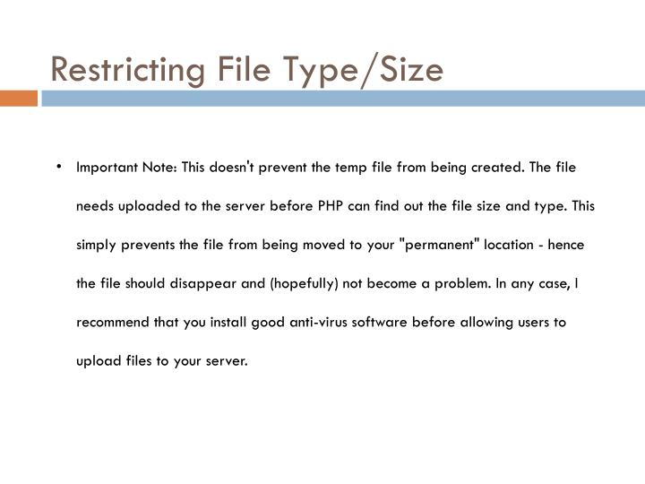 Restricting File