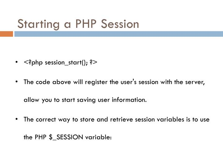 Starting a PHP