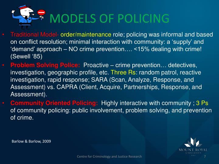 MODELS OF POLICING