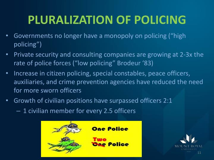 PLURALIZATION OF POLICING