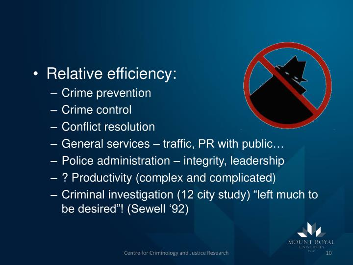 Relative efficiency: