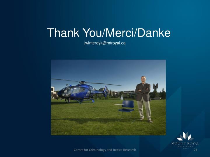 Thank You/Merci/