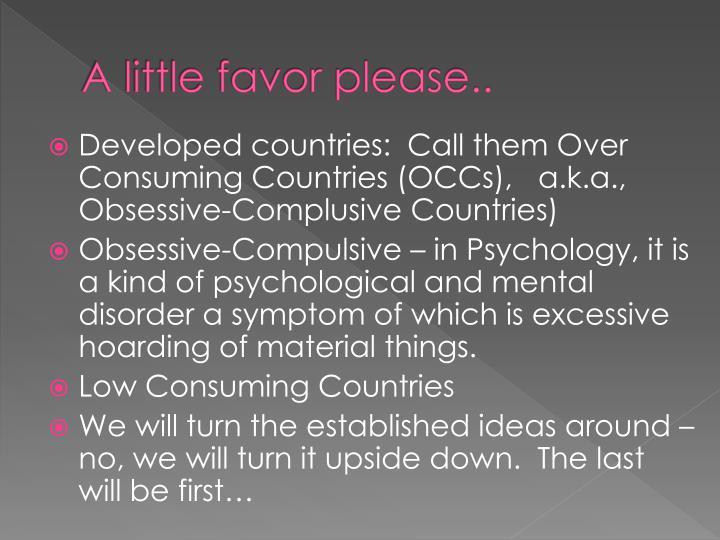 A little favor please..