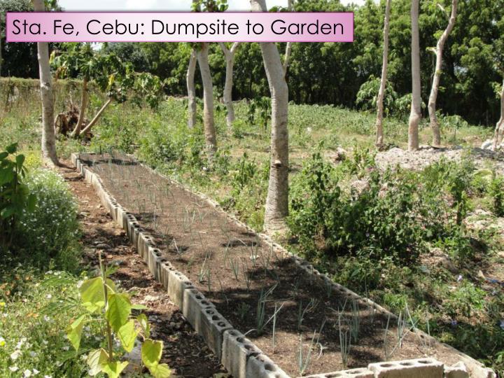 Sta. Fe, Cebu: Dumpsite to Garden