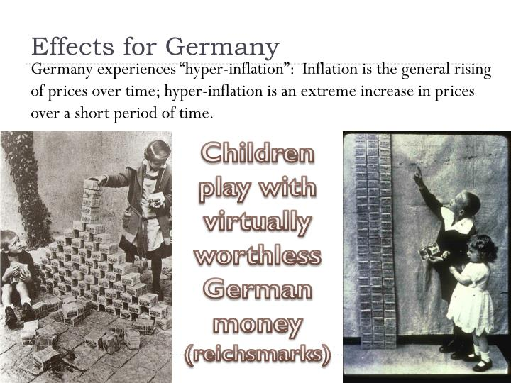 Effects for Germany