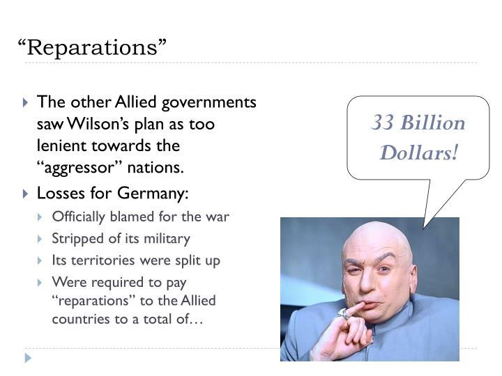 """""""Reparations"""""""