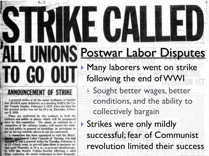 Postwar Labor Disputes