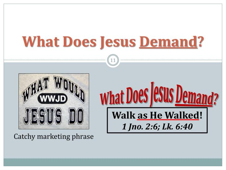 What Does Jesus