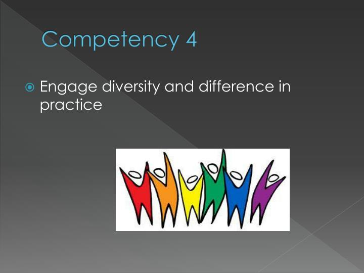 Competency 4
