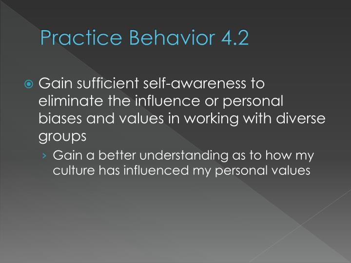 Practice Behavior 4.2