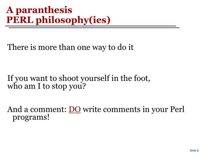 A paranthesis