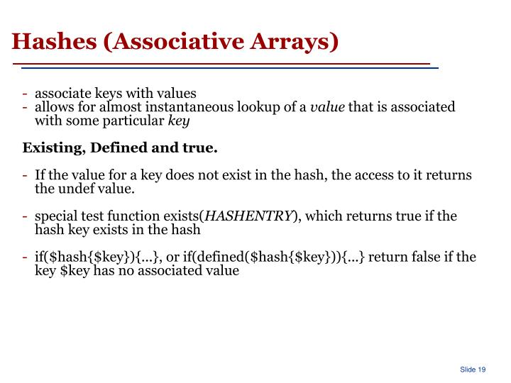 Hashes (Associative Arrays)