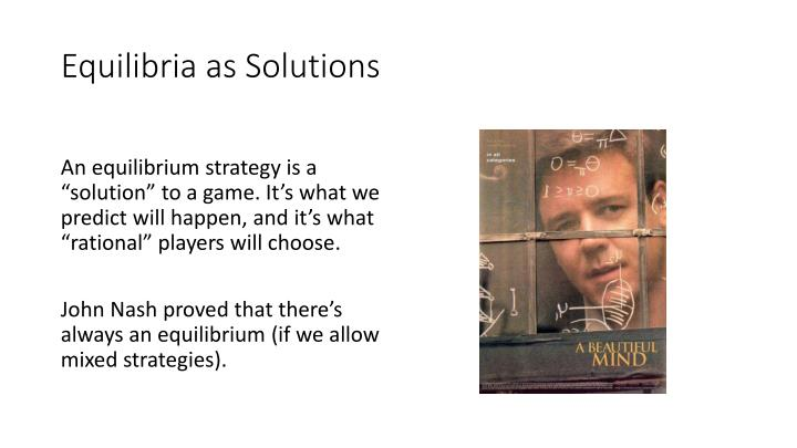 Equilibria as Solutions