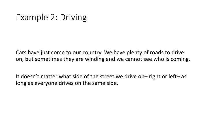Example 2: Driving