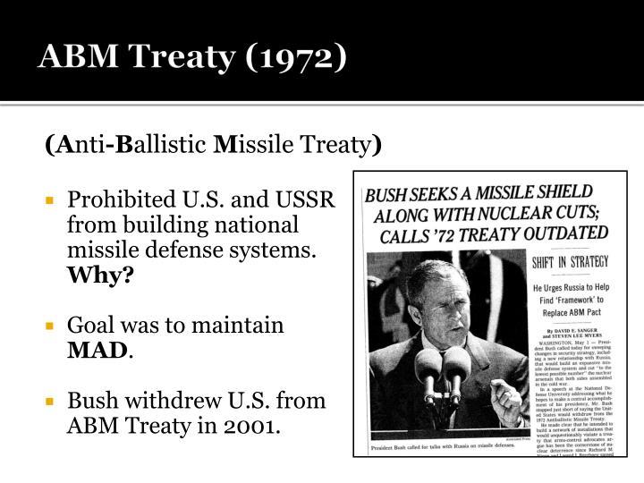 ABM Treaty (1972)