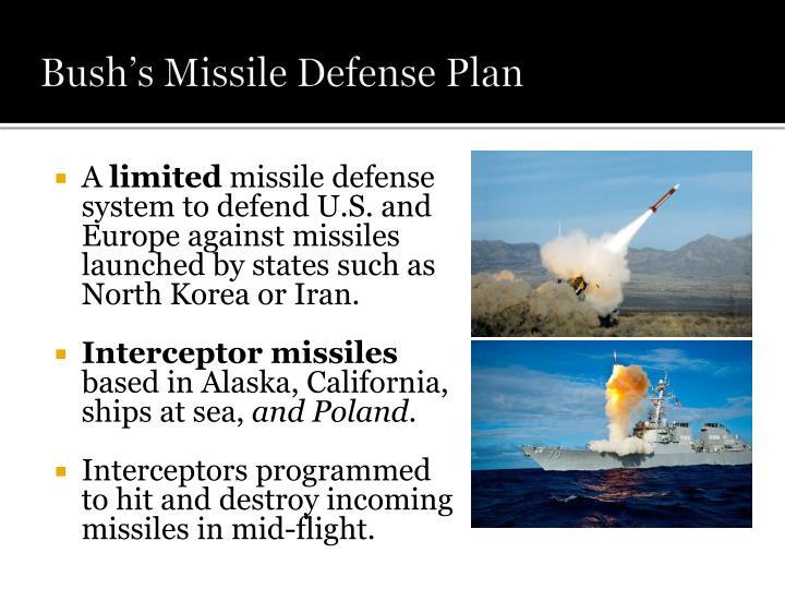 Bush's Missile Defense Plan