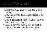 review missile defense
