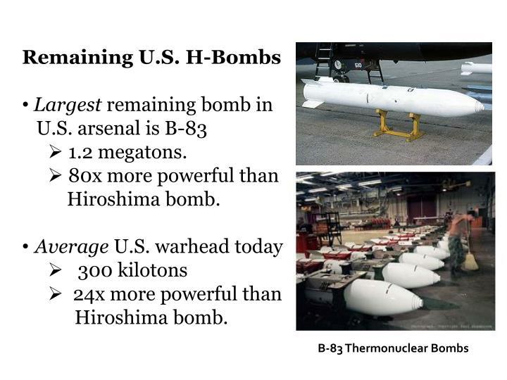 Remaining U.S. H-Bombs
