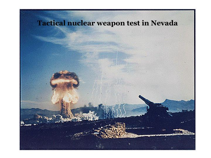 Tactical nuclear weapon test in Nevada