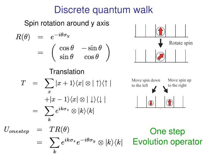 Discrete quantum walk