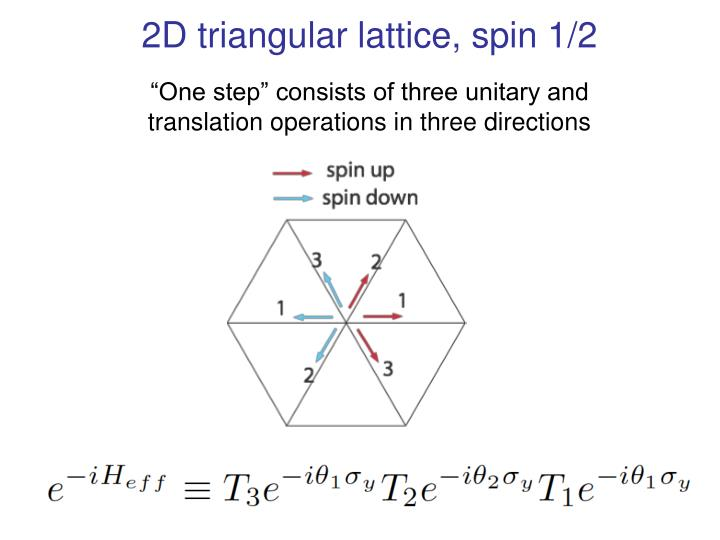 2D triangular lattice, spin 1/2
