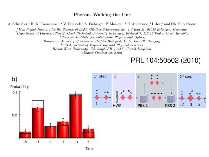 PRL 104:50502 (2010)