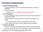 function fundamentals