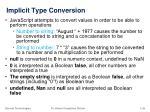 i mplicit type conversion