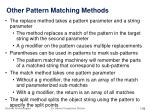 other pattern matching methods