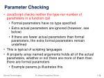 parameter checking