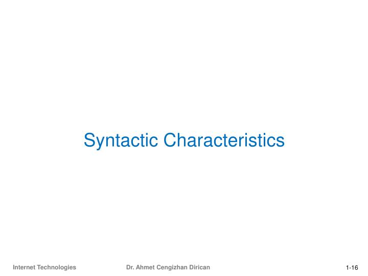 Syntactic