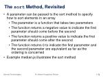 the sort method revisited