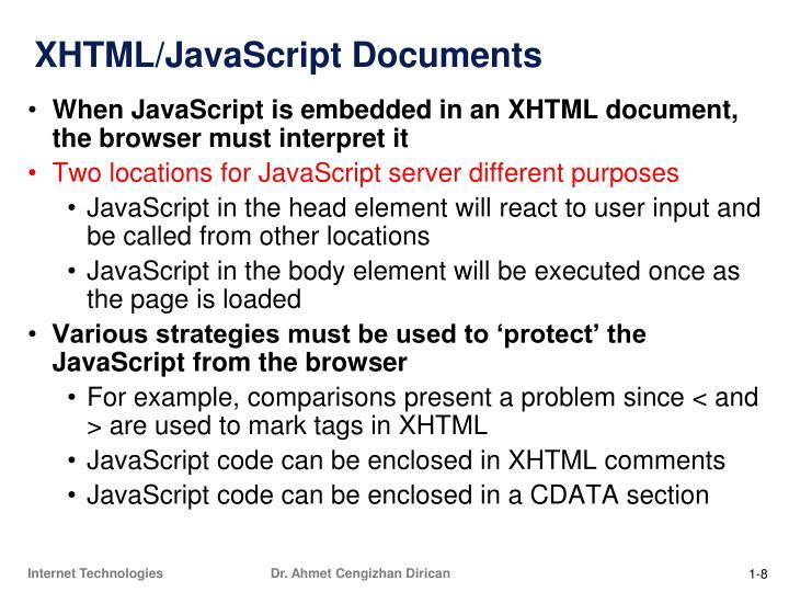 XHTML/JavaScript