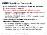 xhtml javascript documents