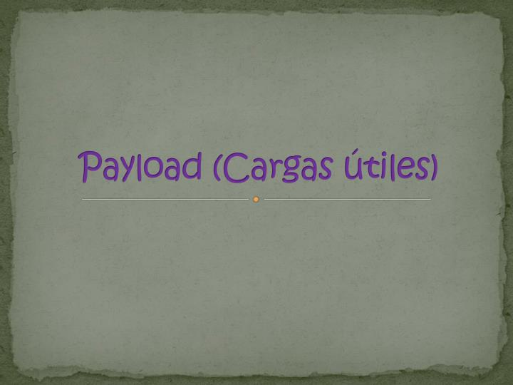 Payload (Cargas útiles)