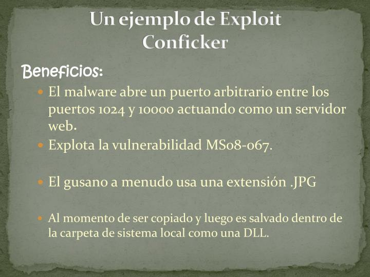 Un ejemplo de Exploit