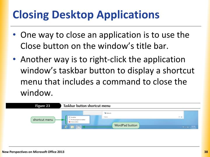 Closing Desktop Applications