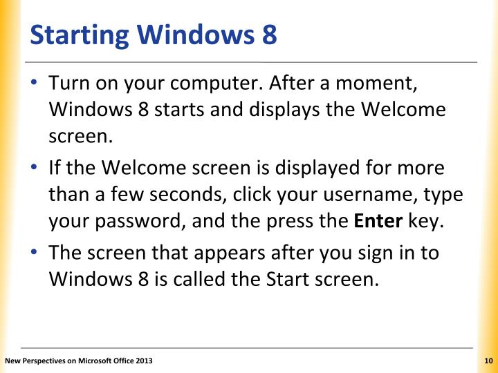 Starting Windows 8