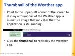 thumbnail of the weather app
