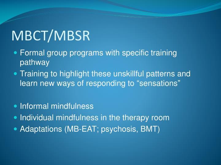 MBCT/MBSR