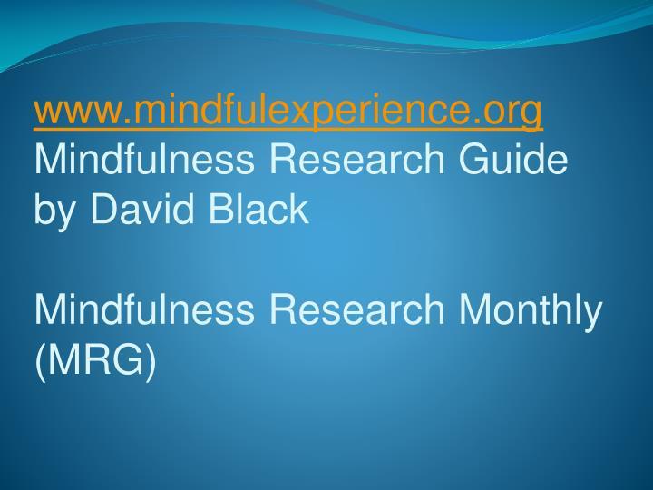 www.mindfulexperience.org