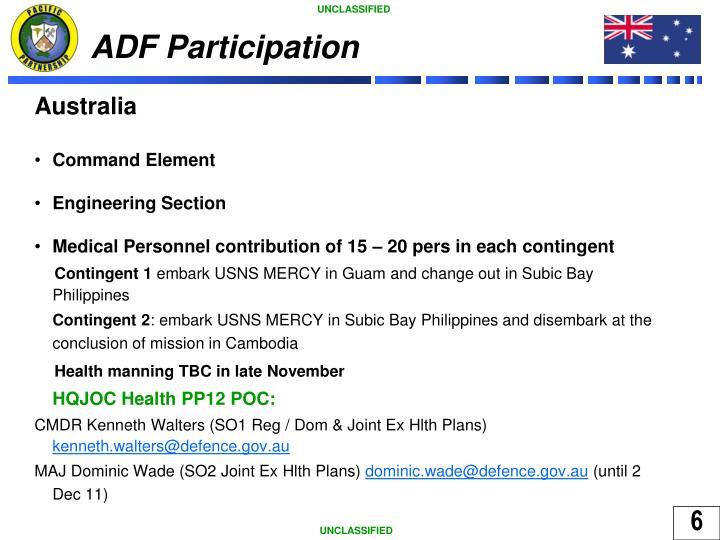 ADF Participation