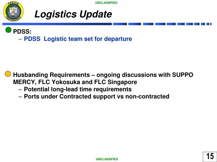 Logistics Update