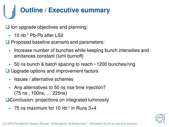 Outline executive summary