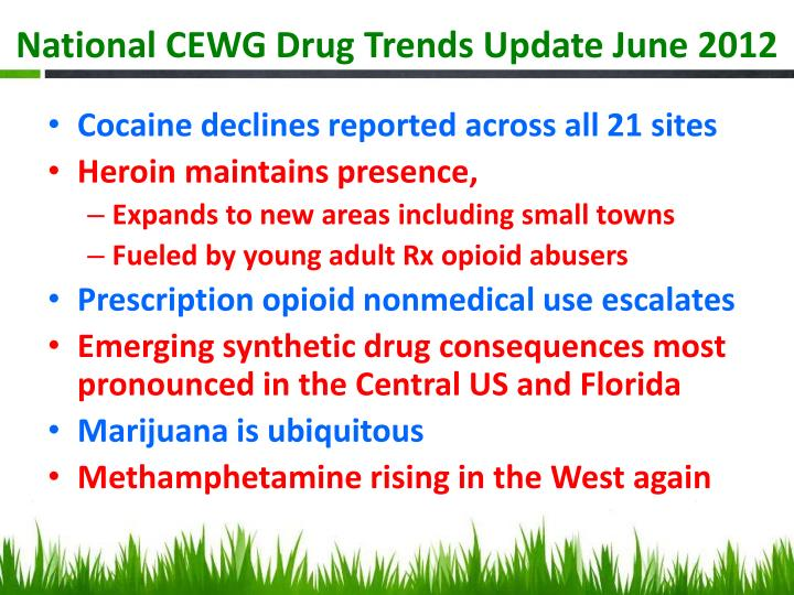 National CEWG Drug Trends Update June 2012