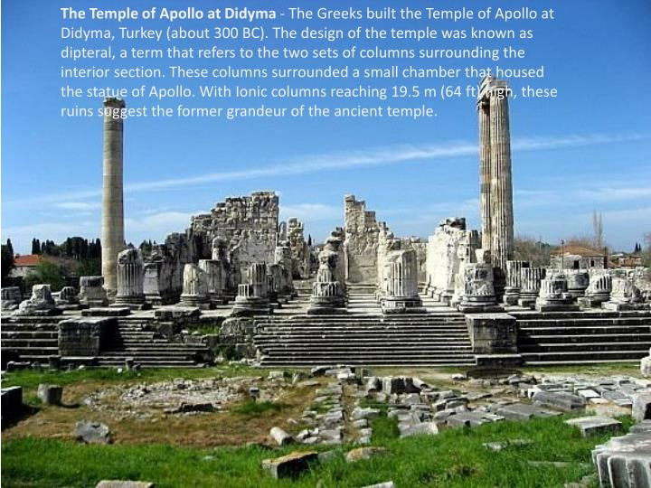 The Temple of Apollo at